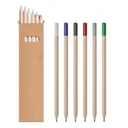 Set 6 matite con finitura...